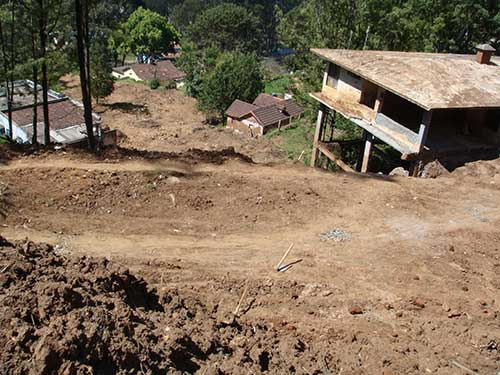 Debris flow triggered due to heavy rainfall on 09 November 2009 in Ketty area, Ooty. The landslide has destroyed several houses.
