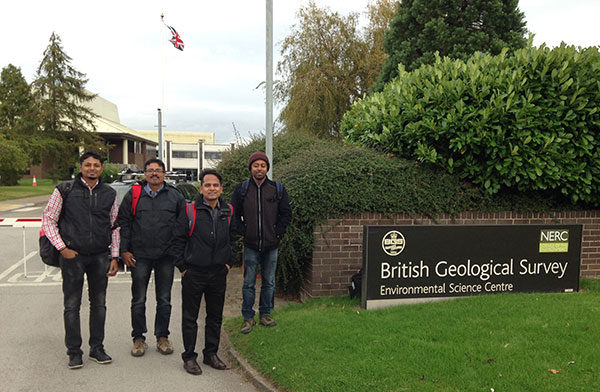Colleagues from the Geological Survey of India (GSI) visiting the BGS